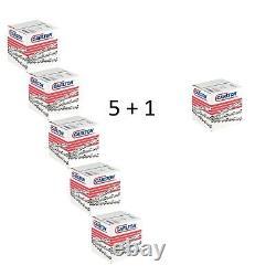 5+1 Pièce Carlton Chaîne de Scie Pleine Burin 3/8 1,6 72 50cm