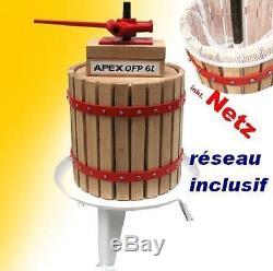 Apex Pressoir pour fruits et raisins OFB 6 L réseau inclusif inclusiv Netz