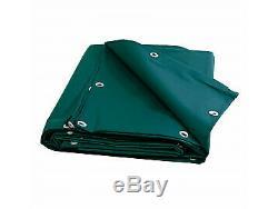 Bâche de protection agricole 680 g/m² 10 x 15 m Bache PVC verte serre tunn