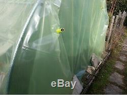 Bâche transparente 6m de large, longueur au choix pour serre de jardin, PEBD 200