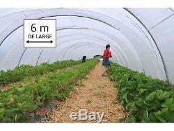 Bâche transparente 6m de large, longueur de 10m (6m x 10m) pour serre de jardin