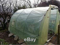 Bâche transparente 6m de large, longueur de 7m (6m x 7m) pour serre de jardin