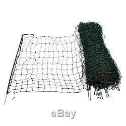 Barrière pour Volailles 50 M 120 cm Maille Vert Peut Être Électrifiée Bétail Net