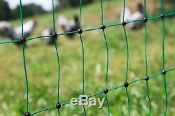 Barrière pour Volailles Peut Être Électrifiée Vert Bétail Clôture de Poulet