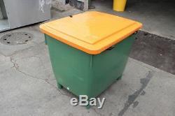 Bin de Grit 400 Litre avec Ouverture 945x725x930mm Vert/Orange