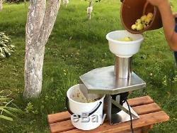 Broyeur à pommes et fruits électrique ES-055 raisins, baies, jus, vin, cidre