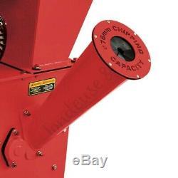 Broyeur de jardin pour végétaux diamètre max 76mm moteur thermique 196cc 5,2 cv