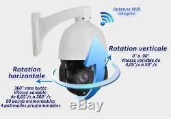 Caméra rotative 360° avec vision nuit par IR laser 150m IP66 Zoom 20x