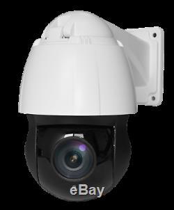 Caméra rotative IR visée laser 150m 360° réels IP66 Zoom 20x