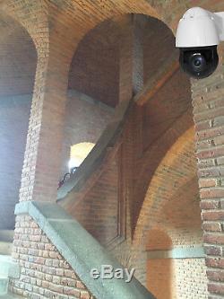 Caméra rotative vision nuit IR laser 150m 360° réels IP66 Zoom 20x