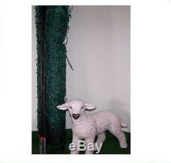 Clôture de Moutons 50 M 112 cm Pique Doubles Vert Électrique Réseau