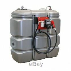 Cuve de stockage 1500L avec pompe en 230v gasoil fuel GNR garantie 15 ans