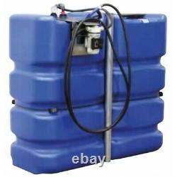 Cuve de stockage PEHD 2000L pour Adblue avec pompe et pistolet automatique