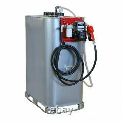 Cuve de stockage gasoil galvanisée DP 1000 litres avec pompe