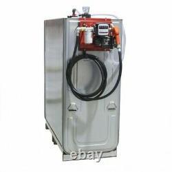 Cuve de stockage gasoil galvanisée DP 1500 litres avec pompe