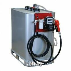 Cuve de stockage gasoil galvanisée DP 700 litres avec pompe