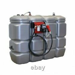 Cuve stockage gasoil GNR FUEL PEHD DP 2000 litres avec pompe