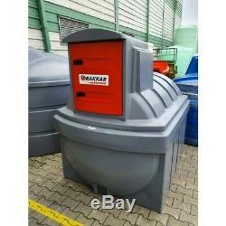 Cuve stockage gasoil GNR fuel PEHD DP 5000 litres avec pompe