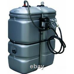 Cuve stockage gasoil PEHD DP 750 litres avec pompe