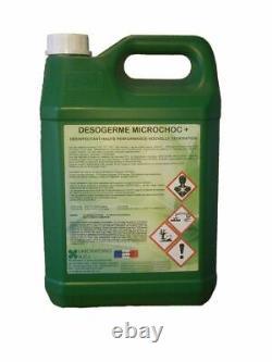 Désinfectant haute performance nouvelle génération Desogerme microchoc+ bido