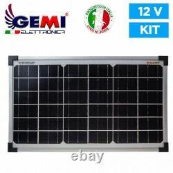 ELECTRIFICATEUR Clôture électrique 12V Batterie /220V + Panneau SOLAIR 5km Gemi