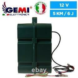 ELECTRIFICATEUR De Clôture électrique 12V Batterie/220V + Panneau SOLAIR 5km