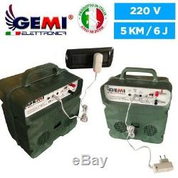 ELECTRIFICATEUR de Clôture électrique 12V Batterie /220V 5km clôture électrifiée