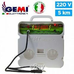 ELECTRIFICATEUR de Clôture électrique clôture électrifiée 5 km 220 V E/220 Gemi