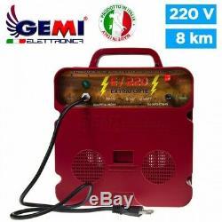ELECTRIFICATEUR de Clôture électrique clôture électrifiée 8 km 220V Gemi