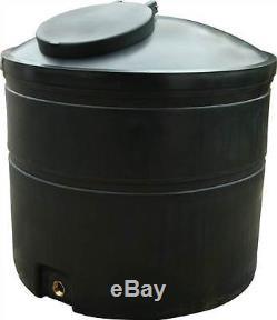 Ecosure 1500 Litres Réservoir D'eau Eau De Pluie Récolte Noir Numéro Sortie
