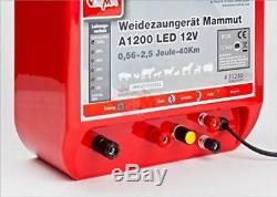 Electrificateur de cloture 12 V Solarisable 0,56 2,5 Joul