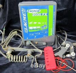 Électrificateur de clôture lacme énergie 2000 230v 2 joule + parafoudre +testeur