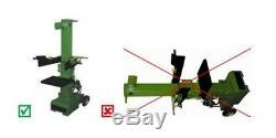 Fendeuse de bûches 10 Tonnes 3000W Electrique Fendeur Bois PREHLS11T/V