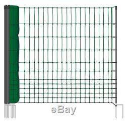 Filet de cloture Volaille Hauteur 112cm longueur 25m 9 piquets double pointes