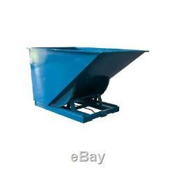 Fimm Benne en tôle auto-basculante 600 L charge 2000 kg coloris bleu