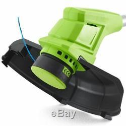 Greenworks Taille-bordure et Batterie Débroussailleuse 24V 2Ah G24LT30 2101207UA