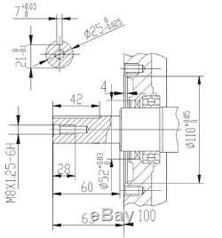 LIFAN 190 Moteur essence 10.5kW (15CV) 25mm 420ccm démarreur électrique Kart
