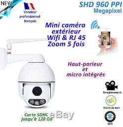 Mini-caméra Wifi + RJ45 PRO. Rotative & Etanche IP66 Zoom 5x Silencieuse