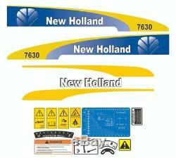 New Holland 7630 Set complet autocollant / adhésif / autocollant tracteur