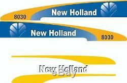 New Holland 8030 Kit complet autocollant / adhésif / autocollant pour tracteur