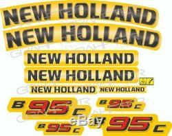 New Holland B95C Set complet autocollant / adhésif / autocollant pour