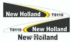 New Holland TS110 Set complet autocollant / adhésif / autocollant tracteur