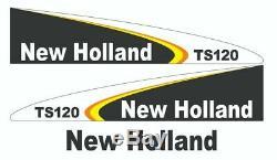 New Holland TS120 Kit complet autocollant / adhésif / autocollant pour tracteur