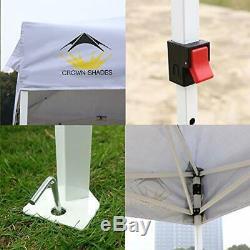 Ombrage de couronnes brevetées 10ft x 10ft Outdoor Pop up Portable (Blanc)