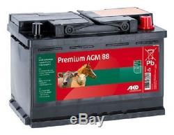 Pile de Clôture AGM 12 V/88 Ah Vliess Batterie Aucun Acide Barrière 441203