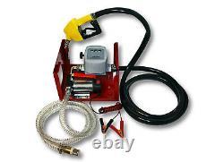 Pompe à Fuel ou Gasoil bio Autoaspirante 24V/150W 40l/min Mobile Pistolet Auto
