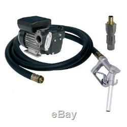 Pompe pour le transfert du gasoil 230V avec pistolet et tuyau 56 LITRE/MIN NEUVE