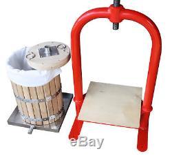 Pressoir à vis 20 litres -pommes, les raisins, les baies, les fruits, vin, cidre