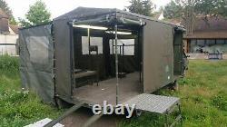 Remorque bâchée atelier podium barnum expo stand marché élevage agricole Jeep