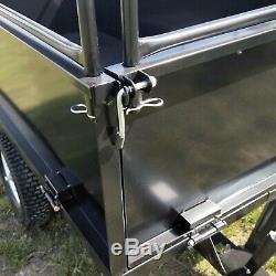 Remorque basculante 210x76x103 cm avec grille et parois amovibles